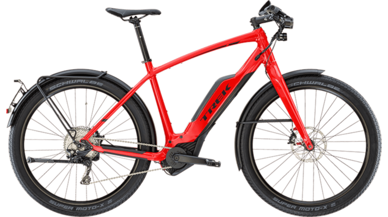 Trek Speed Pedelec up to 45km/h in red